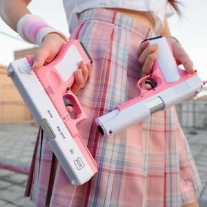 Pink M1911 Shell Ejection Soft Bullet Toy Gun