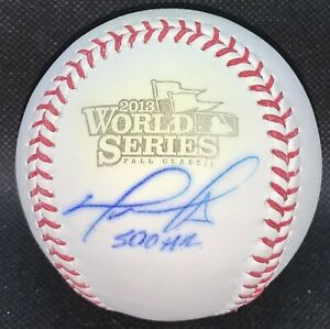 "Autographed David Ortiz OML 2013 World Series Baseball Inscribed ""500th HR"" (JSA"