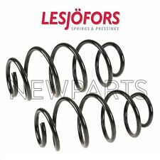 SAAB 9-3 Aero Auto Trans Pair Set of Front Left & Right Coil Springs Lesjofors