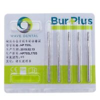 5pcs Wave Dental Tungsten Carbide Long Bur Taper Fissure HP703L# Surgical 44.5mm