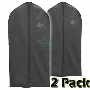 🔥2 Pack Large Hanging Suit Bags Dress Coat Jacket Clothes Cover Dust Protector