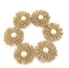 10*  Burlap Flowers for Weddings Decoration, Hair Accessories, Scrapbooking 5cm