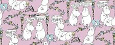 Moomin Half Panama Fabric My Hero Lempimuumi Pink Finlayson 100 x 150 cm