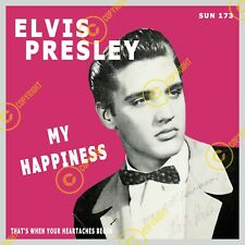 Elvis Presley My Happiness Sun 7 Inch 45 SLEEVE ONLY