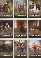 "Walking Dead Season 3 - ""The Prison"" Foil-Stamped Set of 9 Chase Cards TP01-09"