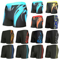 Mens Boxer Briefs Swimming Swim Shorts Trunks Swimwear Beach Pants Underwear