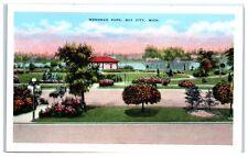 Mid-1900s Wenonah Park, Bay City, MI Postcard