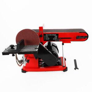 Electric Disc Belt Sander Bench Grinder Workshop Power Sanding Station 220V 375W