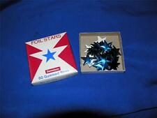 VTG  UNUSED 1950s DENNISON BOX OF lg BLUE FOIL patriotic STARS - STICKERS CRAFTS