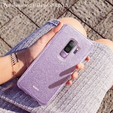 For Samsung Galaxy S9 Case Lilac Purple Glitter Bling S9 High Quality Cover NEW