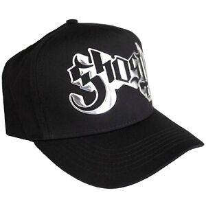 Ghost - Logo Metallic Silver Applique Logo Official Licensed Baseball Cap