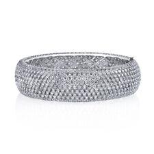 Full Cut Diamond Eternity Bracelet 18K White Gold 80.00ctw