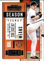 2020 Panini Contenders John Means #33 - Baltimore Orioles