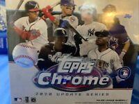 2020 Topps Chrome Update Blaster Sealed  Autographs? Rookies? 28 Baseball Cards