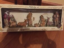 "Euromarchi 8 Piece Holy Nativity 3-3/4"" Figure Set New Box Italy Christmas"