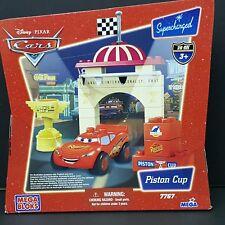 NEW Disney Pixar Cars Mega Bloks 7767 Piston Cup Lightning McQueen Playset 20 pc