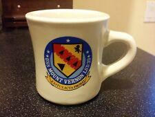 Vintage USS MOUNT VERNON COFFEE MUG LSD 39 EXITUS ACTA PROBAT US NAVY TRANSPORT