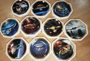 Hamilton Collection Star Trek * The Voyagers * Plates Lot 10 Complete RARE Set