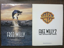 Free Willy 1 and 2 Press Kit Orca Whale Adventure Movie 1993 + 1995 Richter