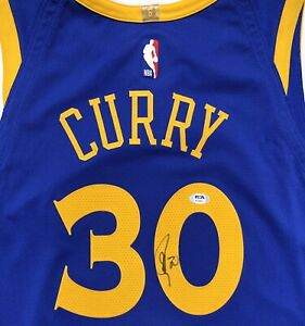 STEPHEN CURRY #30 SIGNED NIKE WARRIORS AUTHENTIC BASKETBALL JERSEY PSA/DNA