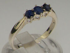Three-Stone Natural Sapphire Fine Rings