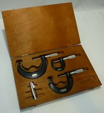 Starrett Series 436 0 3 Outside Micrometer Set With Case Excellent Condition