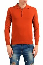 United Colors of Benetton Men's Wool Ginger Orange Polo Sweater US S IT 48