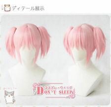 Anime Puella Magi Madoka Magica Cosplay Pink Full Wig Short Hair Wig
