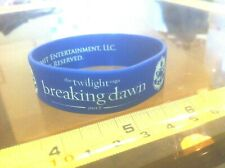 The Twilght Breaking Dawn Part 2 Blue Rubber Bracelet Wristband Official New