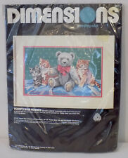 Vintage Dimensions Needlepoint Kit Teddy's New Friends #2365 - New!