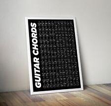 Guitar Chord Poster, Guitar Chord Print, Guitar Chord Guide, Secret Santa Gift