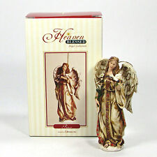 """Roman Inc Heaven Blessed Angel Collection Peace 4.5"""" Ornament 1 of 4 Mint Rare"""