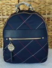 TOMMY HILFIGER WOMENS BLUE QUILTED NYLON ROSIE BACKPACK PURSE MEDIUM NWT $118