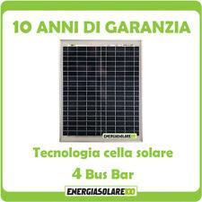 Pannello Solare Fotovoltaico 20W 12V Poli x Batteria Barca Camper Auto + Ebook