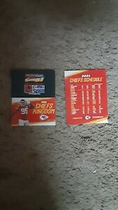 2021 Kansas City Chiefs #95 Chris Jones The Wolf 106.5 football pocket schedule