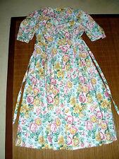 Geblümte wadenlange Damenkleider aus Baumwolle für die Freizeit