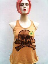 FLOWER POWER SKULL BABY Rockabilly Tank Top Shirt S/M
