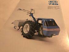 BCS 745 Rotavator 2-wheel Tractor Tracmaster Original 1980s Brochure