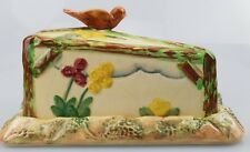 ~27~ Vintage ~ Butter Cheese Dish ~ Wadeheath Ware ~ England ~ Bird design ~