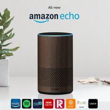 All-new Amazon Echo (2nd Generation) Wireless Alexa Speaker -Walnut Finish-NEW