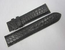 Rama Swiss Watch Co. RSW 20mm x 18mm Black Watch Strap Band Alligator Leather