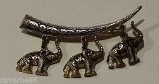 ANCIEN BIJOU VINTAGE BROCHE OR DE TOLEDE DAMASCENE ELEPHANT # B161