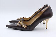 OLYMPIC Stilettos Pumps Größe 39 UK 6 Braun Leder Echtleder Damen Schuhe NEU