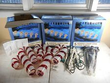 Lot of 15 Lighted Candy Cane Lawn Stakes Indoor / Outdoor Christmas Decor 3 Sets