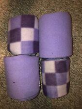 Horse Polo Wraps - Purple Mixed Set