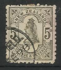 NEW ZEALAND 1882 Queen Victoria 5d Grey USED