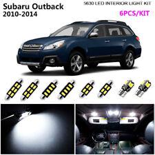 6Pcs Xenon White 6K Interior Dome Light Kit LED SMD For 2010-2014 Subaru Outback