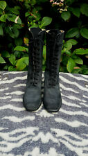 Vintage Bee in Dark Grey Lace up Leather boots UK size 6 EU 39