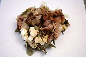 "Vintage Chinese Jade Gemstone Flower Decor With Basket Pot Decorative Collectib"""