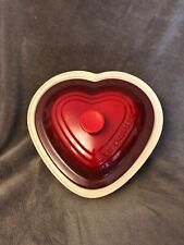 EUC Le Creuset Stoneware 2.5 Qt Heart Shaped Covered Casserole Baking Dish